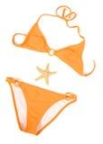 Oranje Bikini Stock Afbeelding