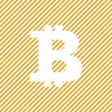 Oranje bitcoinsymbool op abstracte achtergrond Stock Fotografie