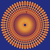 Oranje blauw als achtergrond Royalty-vrije Stock Afbeelding