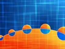 Oranje blauwe achtergrond Stock Foto's