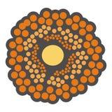 Oranje bloem of cellen Stock Afbeelding