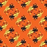 Oranje Bloemen Naadloos Patroon Royalty-vrije Stock Foto