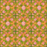 Oranje Bloemen Naadloos Patroon Waterverfhand het schilderen ornament vector illustratie
