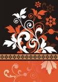 Oranje bloemenachtergrond Stock Illustratie