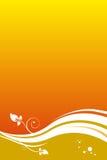 Oranje bloemenachtergrond vector illustratie