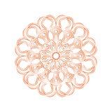 Oranje bloemmandala Uitstekend decoratief ornament stock afbeelding