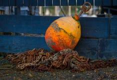Oranje boei Royalty-vrije Stock Fotografie