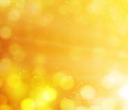 Oranje bokehlichten. abstracte achtergrond Stock Foto