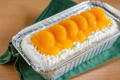 Oranje cake Royalty-vrije Stock Afbeeldingen