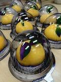 Oranje cake Royalty-vrije Stock Foto