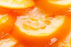 Oranje cake met gelatine het toping royalty-vrije stock foto