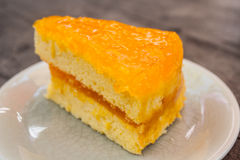 Oranje Cake Stock Foto