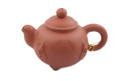 Oranje ceramische theepot Royalty-vrije Stock Afbeeldingen