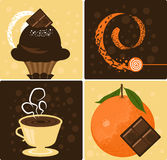 Oranje Chocolade Stock Foto's