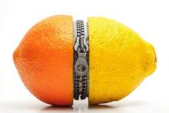 Oranje-citroen Stock Afbeeldingen