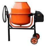 Oranje Concrete mixer royalty-vrije stock afbeelding