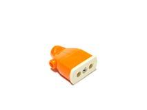 Oranje contactdoos stock foto's