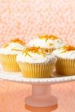 Oranje Cupcakes Royalty-vrije Stock Fotografie