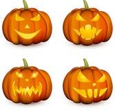 Oranje 3d Halloween-geplaatste pompoenen royalty-vrije illustratie