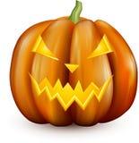 Oranje 3d Halloween-pompoen op wit Royalty-vrije Stock Foto's