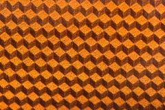 Oranje 3d kubus die paneel op detail wijzen Royalty-vrije Stock Afbeelding