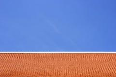 Oranje dak Stock Foto