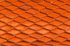 Oranje dak voor patroon en achtergrond Royalty-vrije Stock Afbeelding