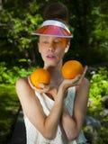 Oranje Dame Royalty-vrije Stock Afbeeldingen