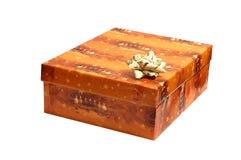 Oranje de giftdoos van Kerstmis Stock Foto