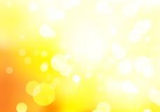 Oranje de herfstachtergrond bokeh stock illustratie