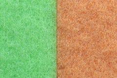 Oranje de Textuurachtergrond van mengelings Groene Plastic vezels Royalty-vrije Stock Foto's