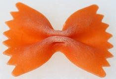 Oranje deegwarenboog Royalty-vrije Stock Afbeelding