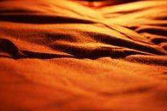 Oranje dekbed Royalty-vrije Stock Afbeeldingen