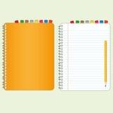 Oranje dekkingsboek Royalty-vrije Stock Afbeelding