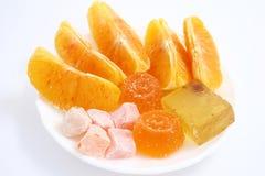 Oranje dessert Royalty-vrije Stock Afbeeldingen