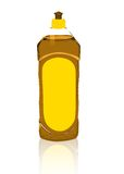 Oranje detergens stock illustratie