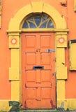Oranje Deur Stock Foto's