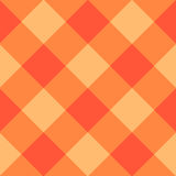 Oranje Diamond Chessboard Background Stock Foto's