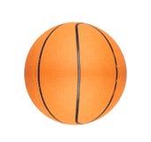 Oranje die basketbalbal op wit wordt geïsoleerd Stock Afbeelding