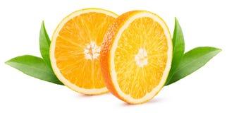 Oranje die plakken op de witte achtergrond worden geïsoleerd Stock Afbeelding