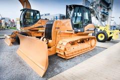 Oranje diesel bulldozer Royalty-vrije Stock Foto