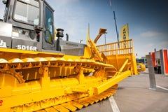 Oranje diesel bulldozer Royalty-vrije Stock Fotografie