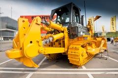 Oranje diesel bulldozer Stock Fotografie