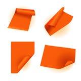 Oranje document sticker Stock Fotografie
