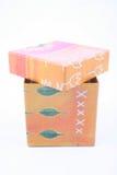 Oranje doos Stock Foto's