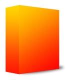 Oranje doos Royalty-vrije Stock Afbeeldingen