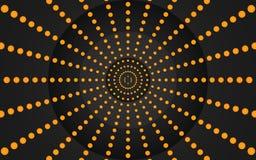 Oranje Dots Graphic Design - Behang vector illustratie