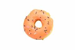 Oranje Doughnut Royalty-vrije Stock Afbeelding