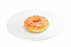 Oranje Doughnut Stock Foto