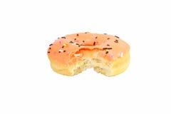Oranje Doughnut Royalty-vrije Stock Afbeeldingen